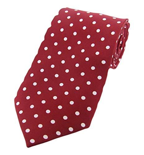 David Van Hagen Vin/cravates Blanc Polka Dot twill de soie de