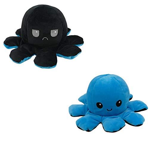 Plüschtier Kinderspielzeug Geschenk Reversible Krake Niedlichen Doppelseitigen Flip Puppe Kreatives Geschenk