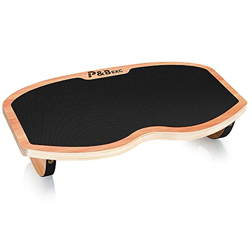 P&BEXC Foot Rest Under Desk Wooden Footrest Stool for Under Desk,Rocker Footrest Board,Support Your Legs Ergonomically,Relieve Feets and Leg Pressure.Portable Footrest Stool for Home and Office Use