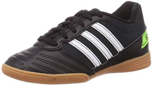 Adidas Super Sala J, Zapatillas Deportivas Fútbol Unisex Infantil niños, Noir Blanc Vert Fluo, 33 EU