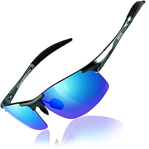 Duco Gafas de sol deportivas polarizadas para hombre con...