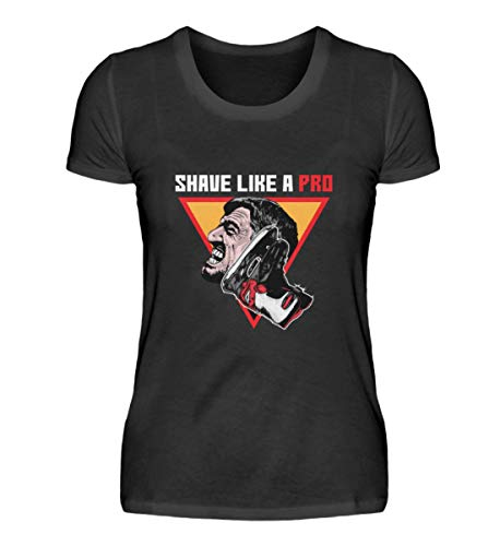 """Generisch Camiseta para mujer con diseño de hockey sobre hielo y texto en alemán """"Bart Rasur"""" Negro XXL"""