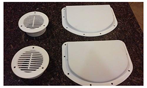 Find Cheap Trailer Side Wall AIR Vents - White 2 Inner 2 Outer