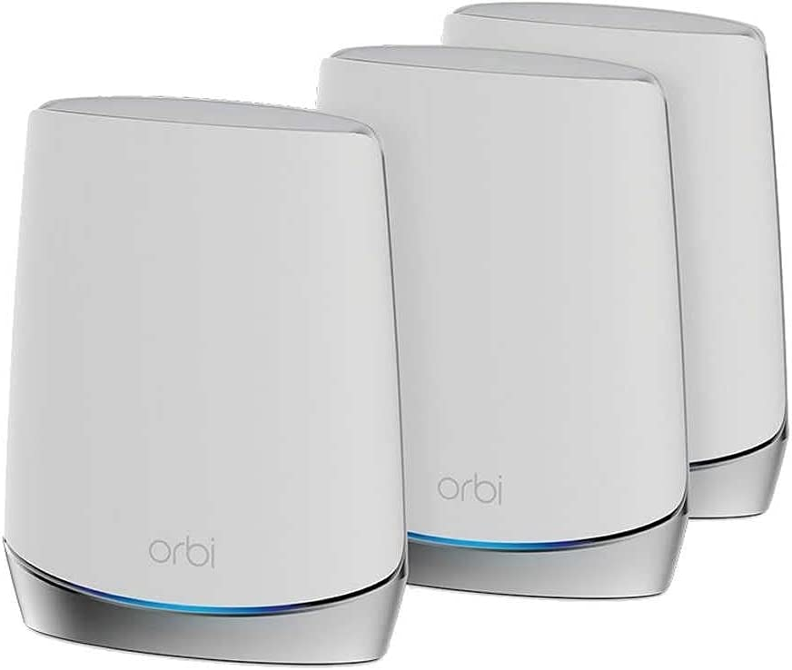 NETGEAR Orbi RBK753S High-Performance Whole Home Mesh WiFi System 3-Pack Includes 1 Router & 2 Satellites White