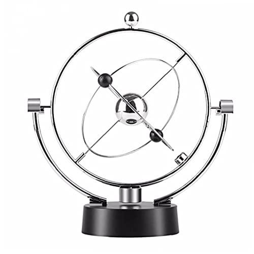 Escritorio de bola de bola electrónica Movimiento perpetuo Ciencias físicas Ciencias físicas Arte cinético Globe Newton Péndulo para Oficina Ornamentos para el hogar, Globo del orbital cinético