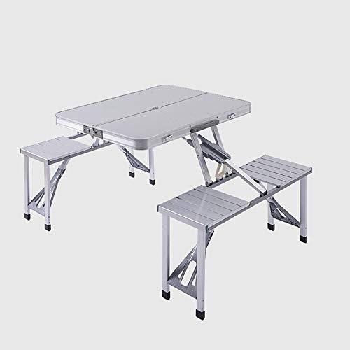 Oikupe Outdoor Klapp-Snack-Tisch Tragbarer Klapptisch Outdoor-Freizeit Tisch Garten Picknicktisch Für Patio Klapptisch,A
