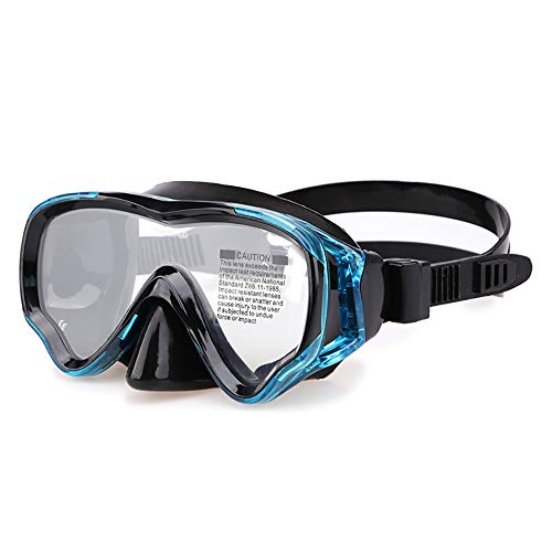 Sunbobo Traje de máscara Duradero Anti-Niebla Snorkel Goggles Resistente al Impacto Vidrio Templado panorámico for niñas jóvenes, niños Adecuado para Snorkeling (Color : Blue, Size : One Size)