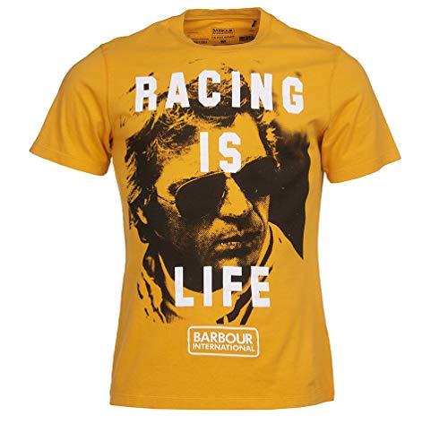 Barbour International T-Shirt für Herren, Orange Steve McQueen Life Tee, MTS0696, MTS0696 Medium