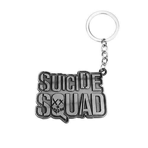 WZLDP Suicide Squad Letra Llavero Personalidad pequeño Colgante Llavero