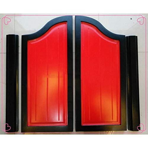 Swinging Doors Cafe Deuren Houten Scharnierende Deur Hek Doorgang Keuken Badkamer Zwart Rood, 20 Maat, Ondersteunt Aangepaste 70x60cm A