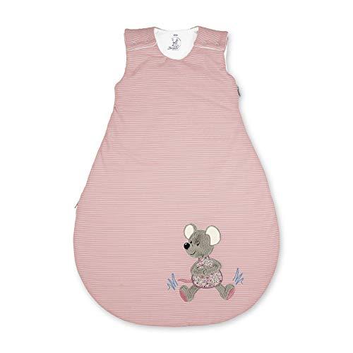 Sterntaler Baby-Schlafsack, Maus Mabel, Reißverschluss und Knöpfe, Größe: 62/68, Rosa, 9462001, mehrfarbig