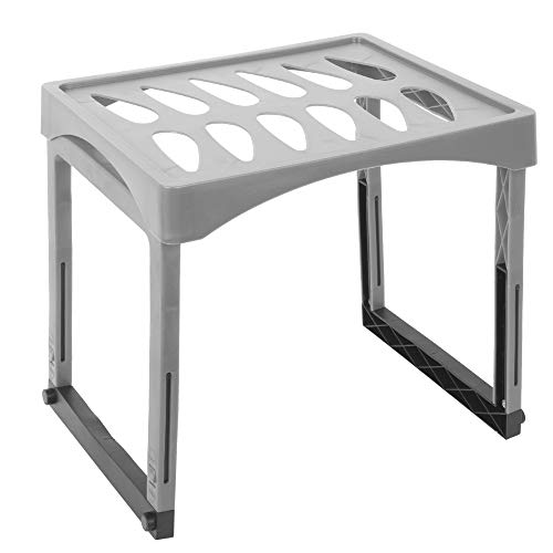 Desk TECH Extendable Height Locker Shelf with Legs for Gym, School, and Office, 10 x 15.25 inches, Grey
