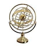 DAMAI STORE Spinning Globe Adornos De Lujo Artesanía De Metal De Estilo Europeo De Gama Alta Sala De Modelo De Oficina En El Hogar Mueble De Televisión Adornos (Size : 25 * 25 * 38cm)