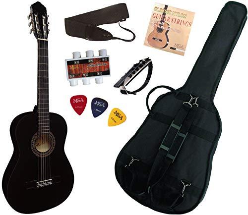 Pack Guitare Classique 4/4 Avec 5 Accessoires ~ Neuve & Garantie (noire)