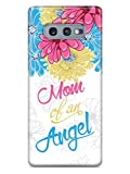 Inspired Cases - 3D Textured Galaxy S10e Case - Rubber Bumper Cover - Protective Phone Case for Samsung Galaxy S10e - Mom of an Angel