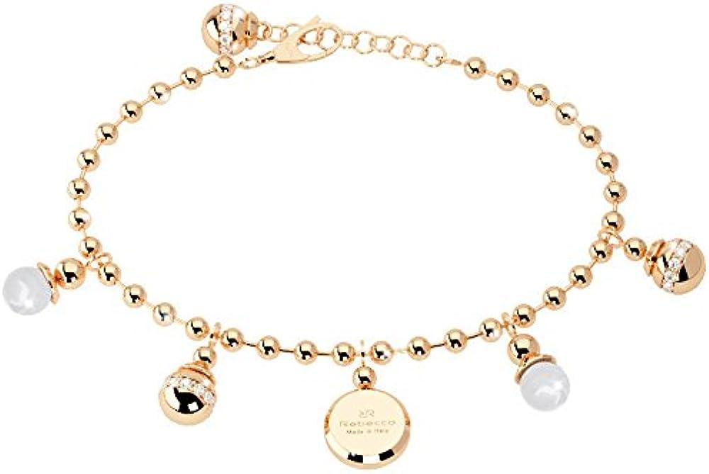 Rebecca bracciale per  donna in bronzo pietre e perla BBPBOO06