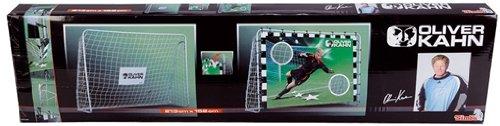 Simba 109416508 - Oliver Kahn, Premium Fußball-Tor, inklusive Torwand, 213 x 152 x 76 cm