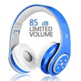 Girls Wireless Bluetooth Headphones,VOTONES 85dB Volume Limited Kids Headset Foldable Over Ear,Great Gifts for Study Children Earphone Compatible with Smartphones PC Tablet-Pink