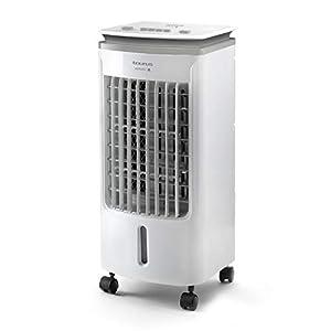 Taurus R501 - Climatizador evaporativo portátil y compacto, ventilador refrescante, enfría, ventila, humidifica, 3 velocidades, 5L, Filtro anti-polvo, Incluye 2 contenedores de hielo