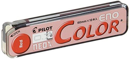 Pilot Color Mechanical Pencil Lead Eno, 0.7mm, Red, 10 Leads (HRF7C-20-R)
