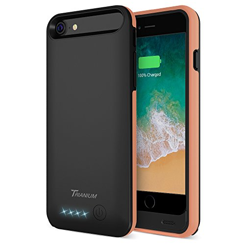 iPhone 8/7 Battery Case, Trianium Atomic Pro 3200mAh Extended Battery Charging Case Compatible with Apple iPhone 7 and iPhone 8 (4.7-inch) [Black Signature] Portable Charger Power Pack Juice Bank
