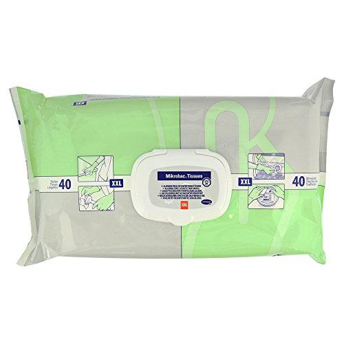 Mikrobac Tissues Desinfektionstücher XXL 25x38 cm 40 Stück