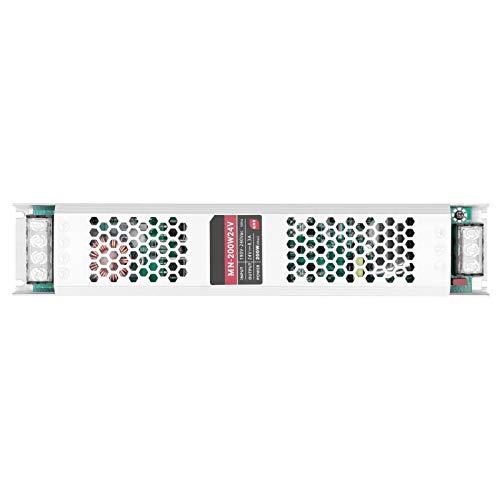 Controlador de fuente de alimentación, LED CTG de 200 W, ultrafino, tira larga, fuente de alimentación conmutada, transformador, adaptador de conmutación a prueba de agua IP68(DC24V)