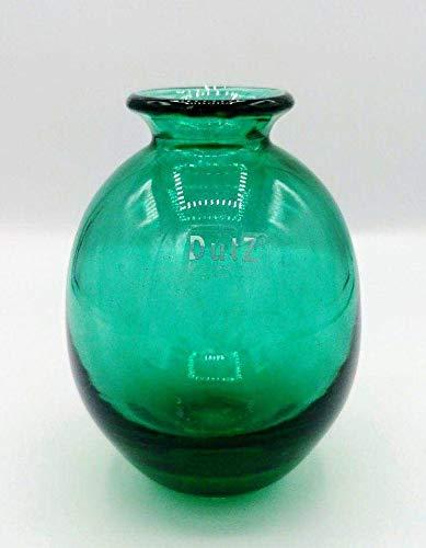 Dutz Collection | NADIEL Deko Vase Grün H 14 cm A3 Blaugrün Transparent Blumenvase Glasvase | Glas Mundgeblasen | Tischdeko Frühling Sommer Herbst