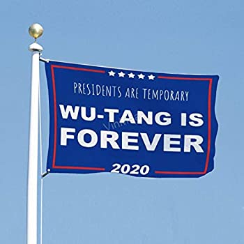 VinMea Flag Political Banner 3x5 Feet Presidents are Temporary Wu-Tang is Forever - Flags for Yard Garden Outdoor Decoration