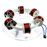 XSHION 6 Coils Ring Accelerator Cyclotron, High-Tech Physics Model DIY Kit Educational Model Science Toy Children Gift Toys
