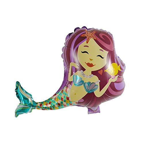Best Buy! Xucus 50pcs Mini Mermaids Princess Purple Pink Foil Balloons Happy Birthday Girl Party Dec...