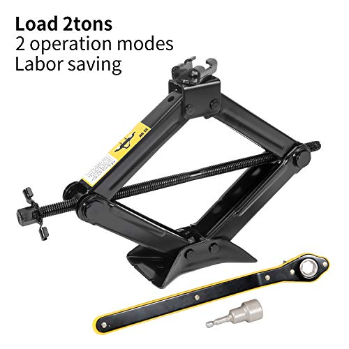 LEADSTAND Scissor Jack is 2.0 tons Labor-saving Design, Thickened Steel...
