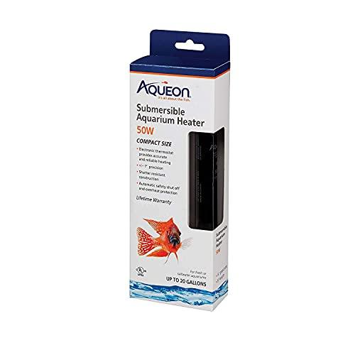 Aqueon 100528680 Adjustable Aquarium Heater, Black,50 W