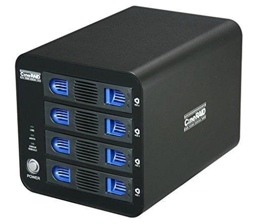 CineRAID CR-H458 (USB 3.0 and eSATA 4 Bay Hard Drive RAID Enclosure) Tool Free Drive, 10TB+ (48TB Max) Capacity and Windows Mac Linux Supported