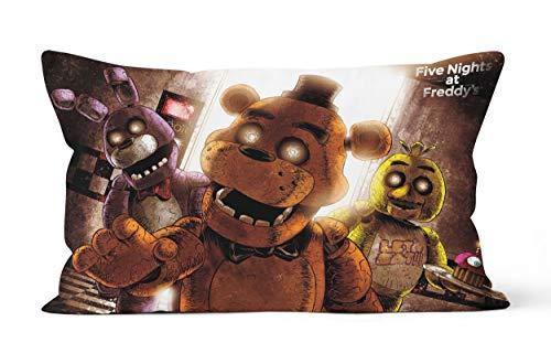 Five Nights at Freddy's - Funda de almohada (50 x 75 cm), suave y cómoda