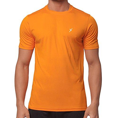 CFLEX Herren Sport Shirt Fitness T-Shirt Sportswear Collection - Orange L