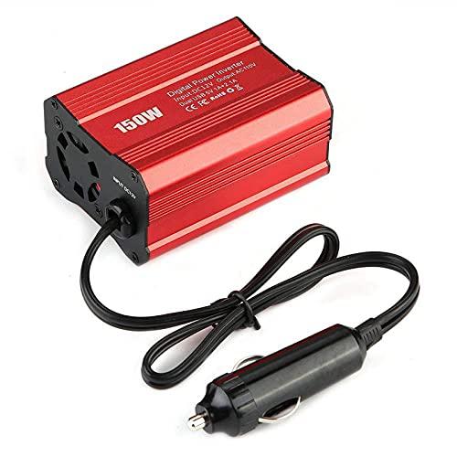 MaSYZBF Inversores de energía de Onda sinusoidal Pura de 300 W Convertidor de 12 V CC a 110 V / 220 V CA - con Control Remoto de 2 Puertos USB y Pantalla LCD Ventiladores de refrigeración Doble