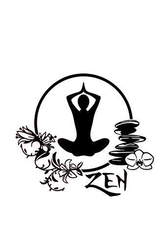 REGALOS ESTRELLA AZUL Vinilo de pared decorativos, yoga, zen Frase decorativa de pared motivadora, vinilo para habitación