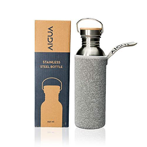 Aigua Trinkflasche Edelstahl - Wasserflasche - BPA Frei - Auslaufsichere Sportflasche