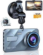 ドライブレコーダー 前後カメラ 1080PフルHD 170度広視野角 4インチ大画面 緊急録画 WDR搭載 防犯カメラ 駐車監視 動体検知 G-sensor機能 ループ録画 操作簡単 日本語説明書付き