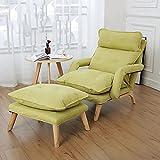 Silla de sofá de algodón, cómoda Silla de sofá Individual, sillón de computadora, Usado en Dormitorio Leyendo Sala de Estar-Verde