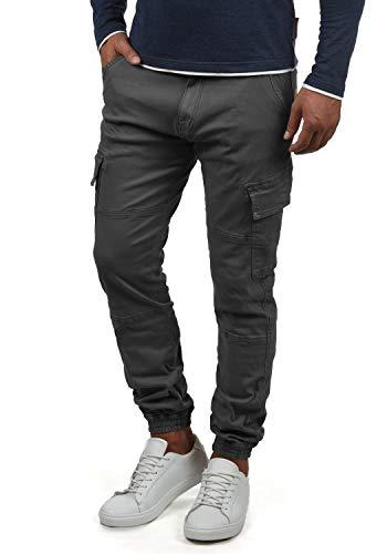 Indicode Bromfield Herren Cargohose Lange Hose Mit Taschen, Größe:M, Farbe:Dark Grey (910)