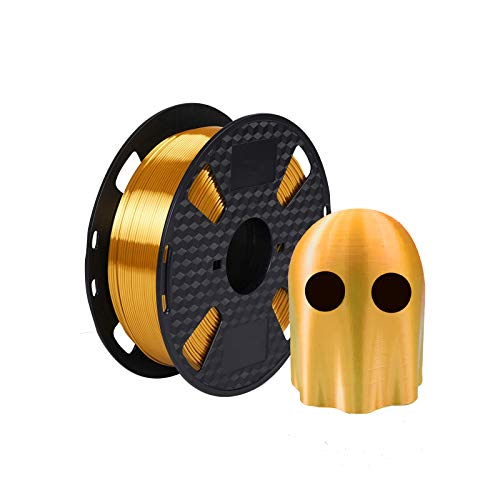 Kehuashina PLA Filament 1.75mm Diameter for 3D Printer - Shiny Metallic Luster Silk Gold Golden - 1kg(2.2LB) Silk Pla Spool (Like Real Gold) - 3D Printer Supplies Accessories