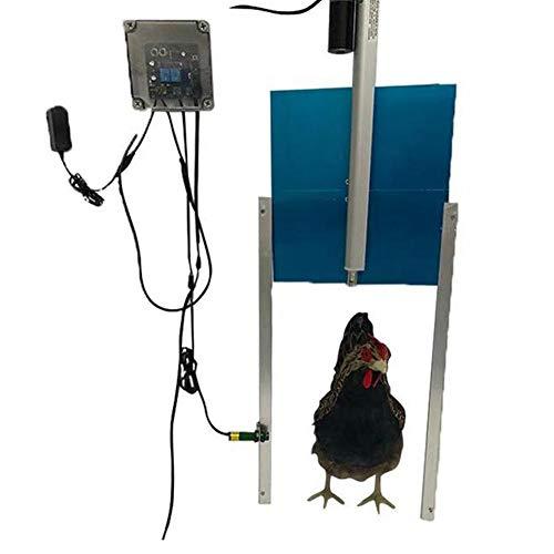 Automatische kippenhokdeuropener met lichtsensor, kan op afstand worden bediend | Waterdicht | Auto Pop deuropener | Accessoires voor kippenhokken(EU)