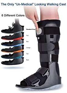 Ultra-lightweight medical boot is the lightest walker on the market. Rocker bottom and rounded edges allow for smooth rolling walking motion. Easy pump inflation bladders keep ankle and foot stabilized and aid in pain relief Bowed struts allow for a ...