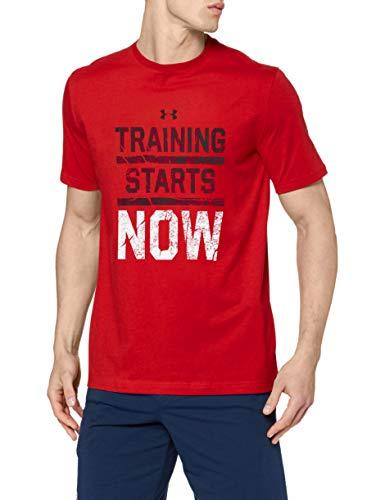 Under Armour, Ua Training Starts Now Ss T, Maglietta A Maniche Corte, Uomo, Rosso, M