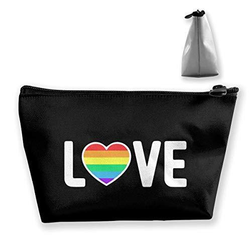 Homosexuel, fière amour, sac de maquillage portable, grande capacité, sac de voyage