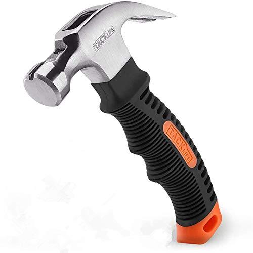 Hammer, TACKLIFE Mini Klauenhammer, ergonomischer Griff mit weichem Gummi, mit magnetischem und rutschfestem Kopf, geeignet für Reparatur, DIY, Holzarbeit - HMH2A