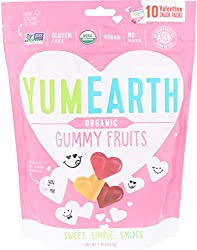 Yumearth, Candy Gummy Fruit Snack Packs Valentines, 198 Gram