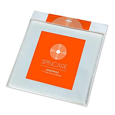 50x 7 Inch Anti Static Inner Vinyl Record Sleeves | AUDIOPHILE Poly Lined Plastic Protective Album Single Sleeve | Replaces Paper Sleeves & Fits Inside Cardboard Inners | Archival Quality Triple Ply